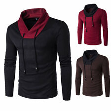 Men Slim Fit Knitting Sweater Long Sleeve Round Collar Pullover Clothes AU