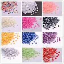 Half Pearl Round Bead Flat Back 2MM - 8MM Scrapbook for Craft FlatBack DIY