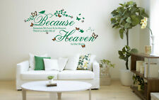 Because someone we Love Quote, 3D Butterflies & flowers, Vinyl Wall Art Stickers