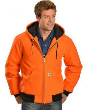 Carhartt Duck Active Jacket - Quilted Flannel Lined - ORANGE