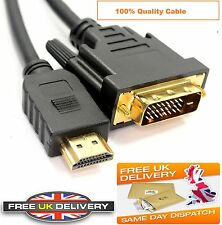 Gold HDMI TO DVI-D 1M 2M Cable Digital Lead For Console HDTV Television Computer