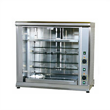 Equipex RBE-8/1 Electric 2-Spit Commercial Rotisserie, 208 Volt 1 or 3 Phase