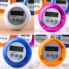 New Cute Mini Round LCD Digital Cooking Home Kitchen Countdown UP Timer Alarm LS