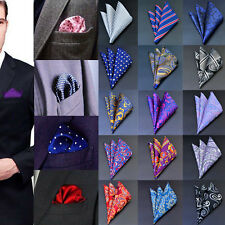 NEW Mens Silk Satin Pocket Square Hankie Handkerchief Various Colours Free F2