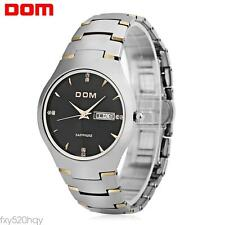 DOM 698 Men Quartz Watch  Tungsten Steel Band Sapphire Mirror 3ATM Wristwatch