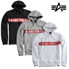 Alpha Industries Men's Hoodie Hoody RBF Pullover Men Sweater Hood MA1 TT NEW