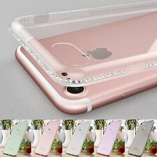 Luxury New Clear Transparent Diamond Soft Gel Case Cover For Apple iPhone 7 Plus