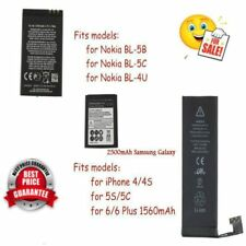 Li-ion Battery Replacement for iPhone 5S/5C/6/6plus & Nokia & Samsung Lot #OS#
