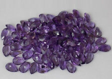 3x4mm- 18x13mm Natural Amethyst Pear Cut Top Quality Purple Color Loose Gemstone
