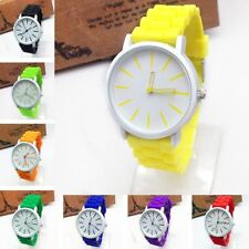 Women Mens Fashion Boys Girls Simple Silicone Jelly Sports Quartz Wrist Watch