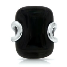 Genuine Black Onyx in 925 Sterling Silver Big Ring Gemstone Cocktail Ring