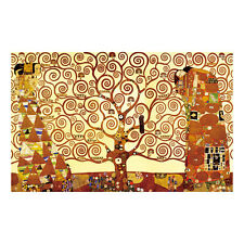 Framed Klimt Painting Reproduction on Canvas Print Home Decor Art Tree of Life