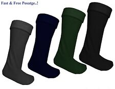 Mens Wellie Warmer Fleece Wellington Boot Socks Liners Size UK 6-11