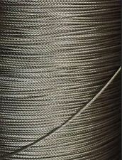 "3/32"" (2.5mm) 7x19 Stainless Steel T316 Cable Wire Rope 25'"
