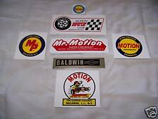 67-THRU-76 BALDWIN MOTION DECALS (7 PACK) L@@k RARE!!!!