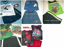 * NWT NEW BOYS 2PC OR 3PC MARVEL Hero SPIDERMAN SUMMER OUTFIT SET 2T 3T 6