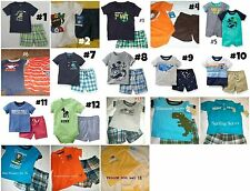 * NWT NEW BOYS CARTERS TEE & SHORTS SUMMER OUTFIT SET NB 3m 6m 9m 12m