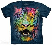 Russo Tiger Face T-Shirt by The Mountain. Wild Big Cat Zoo Animals S-5X NEW