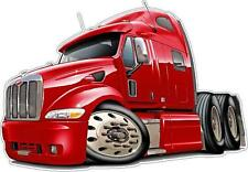 Peterbilt 587 Truck Diesel Semi  Big Riggs Wall Decal Sticker Graphic  Boys Room