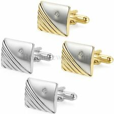 New Men's Silver Gold Tone Square Cufflinks Wedding Party Gift Shirt Cuff Links