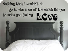 Adele Song Lyrics, Quote, Make you feel my Love, Vinyl wall art sticker, Decal.
