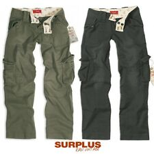 SURPLUS LADIES' VINTAGE Trousers black olive, Size 34-42 ladies Cargo
