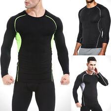 Men Long Sleeve Compression Sport Tight Running Cycling GYM Athletic Top Shirt