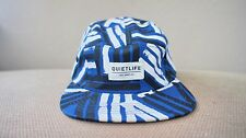 New The Quiet Life Quietlife Dual Lines Blue Black Made in USA 5 Panel Hat Cap