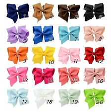 "5.5"" Big Hair Bows Boutique Girls Baby Alligator Clip Grosgrain Ribbon lot"
