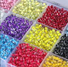Czech 500Pcs 32g 4mm Hole:2mm Round Colorful Glass Seed Beads Jewelry Making