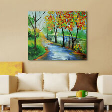 Modern Wall Art Picture Landscape Country Road Oil Painting Living Room Decals