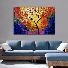 Modern Wall Decoration Knife Painted Tree Oil Painting Canvas Art Wall Murals