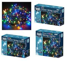 100/200/400 LED MULTI CHASER CHRISTMAS LIGHTS STRING INDOOR OUTDOOR XMAS LIGHTS