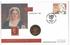 Queen Victoria & QEll Golden Jubilee  - Coin First Day Covers