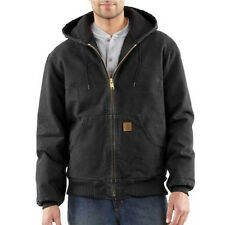 Carhartt Sandstone Duck Active Jacket - Quilted Flannel Lined - BLACK