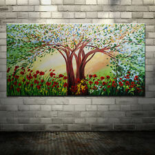 Modern Abstract Landscape Trees Flowers Oil Painting on Canvas Large Wall Murals