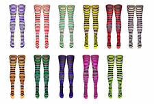 Striped Opaque Tights Luxurious Soft Smooth Wide Stripes Thick Tights in 9 color