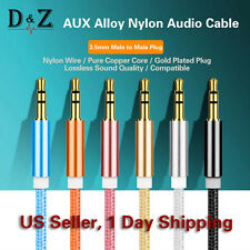 LOT 1M Male to Male Jack 3.5mm Auxiliary Stereo Audio Cable for AUX/Car/MP3/iPod