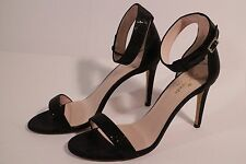 Kate Spade Isa Black Starlight Womens Ankle Strap Dress Heels Shoes New 5003