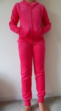 NWT Women JUICY COUTURE LIMITED VELOUR HOT PINK HOODIE & JOGGER TRACK SUIT L-XL