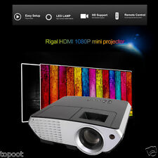 5000 Lumens HD 3D Home Theater LED Multimedia LCD Projector 1080P HDMI/TV/VGA/SD