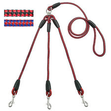 Nylon Coupler 3 Way Dog Leash No-Tangle Triple Pet Leash Fit For Walking Dogs