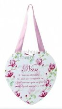 Vintage Lane Floral Heart Plaque in a Choice of Nan or Mummy By Jennifer Rose