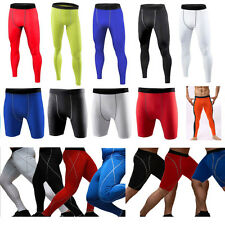 Men's Compression Under Baselayer Bottoms Tight Fitness Sports Shorts Long Pants