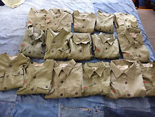 16 Vintage YOUTH BOY SCOUT SHIRTS USED BSA Boy Scouts of America