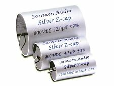 1 pair (2pcs) of Jantzen SIlver Z-Cap MKP Capacitors 2% 800-1200V (all values)