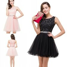 Short Mini Homecoming Dress Sparkling Beaded Applique Scoop Cocktail Party Dress