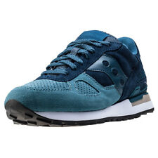 Saucony Shadow O Suede Mens Trainers Navy Teal New Shoes