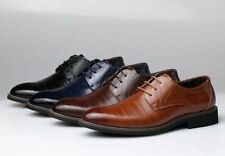 Mens Oxfords Shoes Pointed Leather Lace Up Wedding Formal Dress Casual Shoes Sz