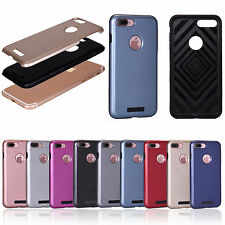 Wired Drawing Crystal Clear Hard PC Panel Back+TPU Bumper Case Cover For iPhone